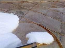 Монтаж медной фальцевой кровли с фасонным покрытием ромб