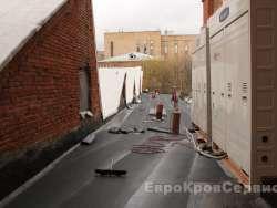 Москва, Трехгорная мануфактура - замена фальцевой кровли на мембранную