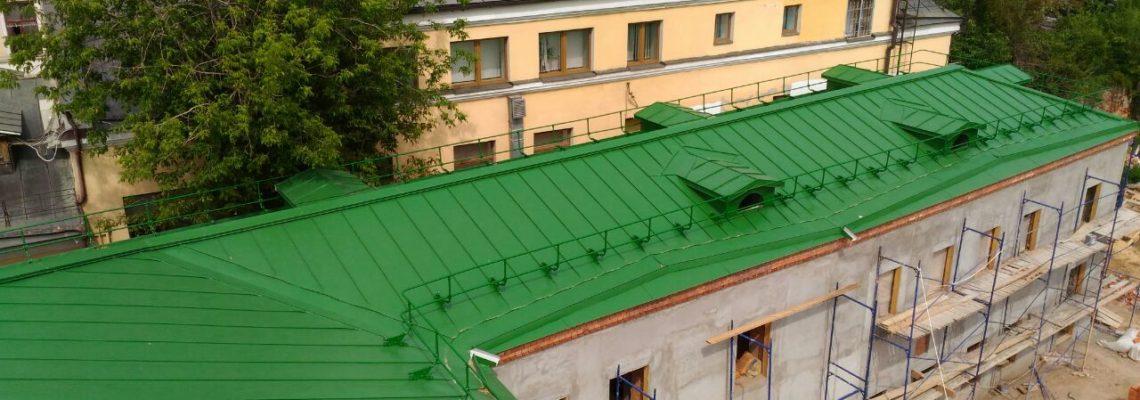 Монтаж фальцевой кровли в центре Москвы
